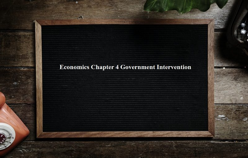 Economics Chapter 4 Government Intervention